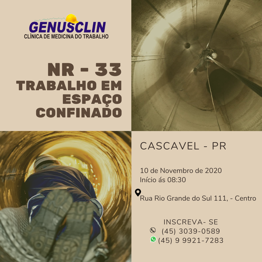 NR 33 - Trabalho em Espaço Confinado